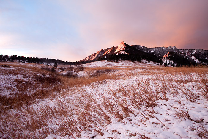 Boulder Flatirons New Year's Day