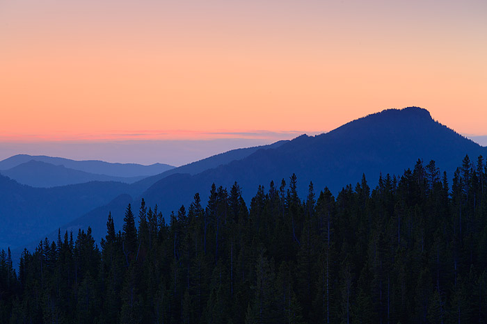 Sunrise over the Estes Valley, Rocky Mountain National Park, Colorado