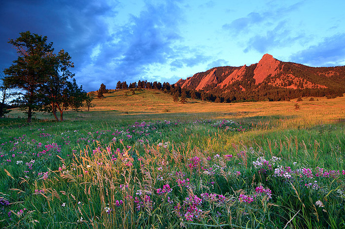 Flatirons Sunrise from Boulder, Colorado