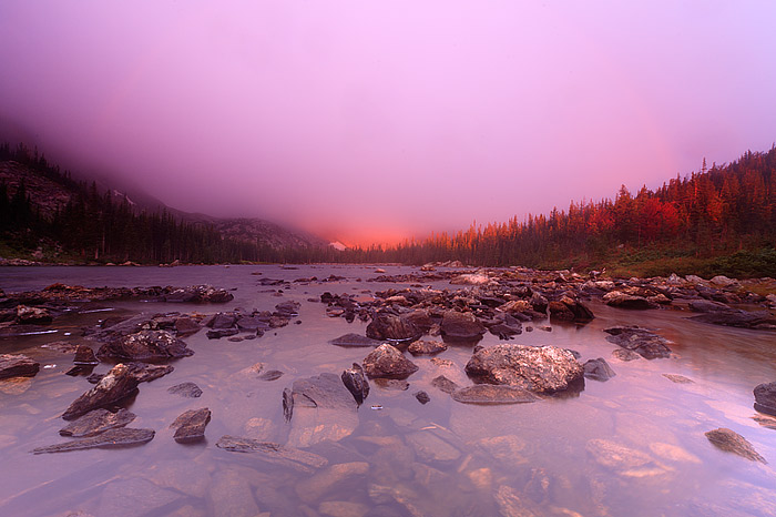 Sunrise at Two Rivers Lake in Rocky Mountain National Park
