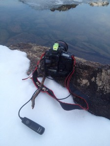 Rigged camera setup to get the photograph of the Loch