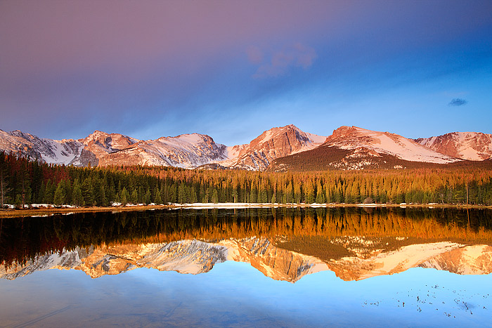 Sunrise at Bierstadt Lake in Rocky Mountain National Park, Colorado