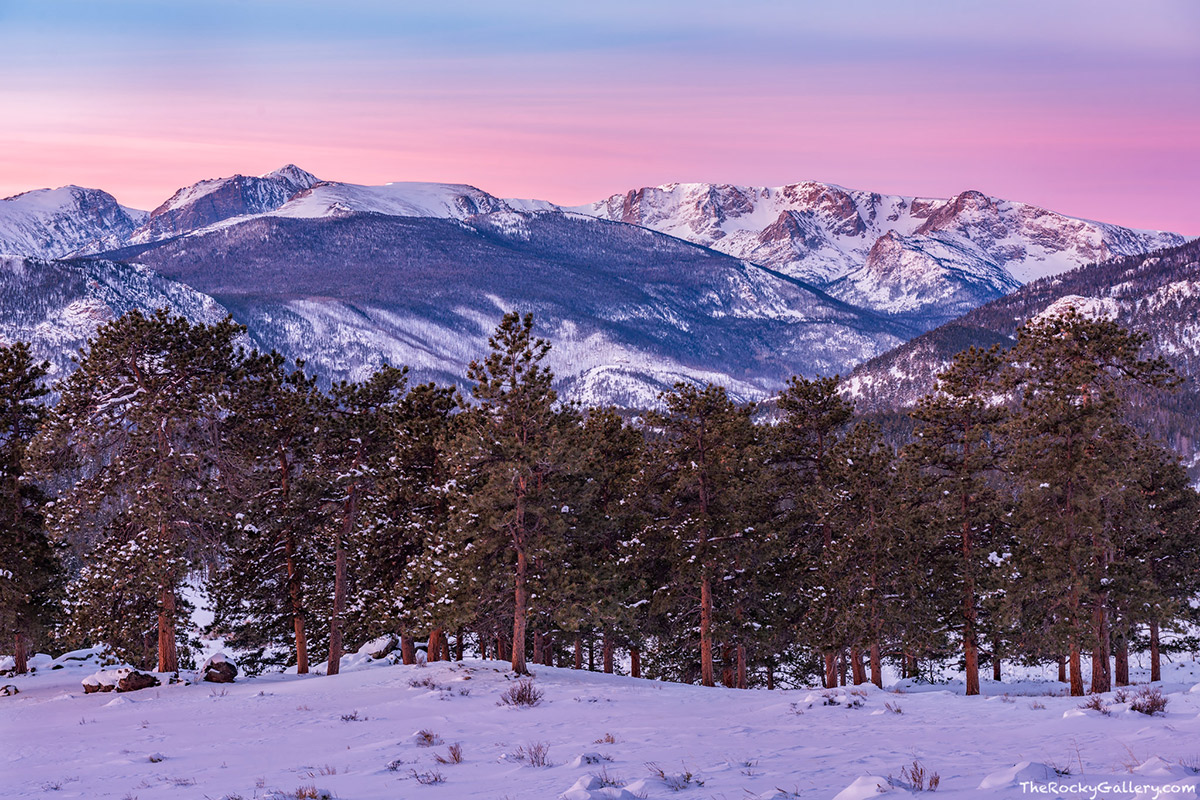 In what seemed like a long time coming I was finally able to capture my first images of 2017 from Rocky Mountain National Park. With other distractions out of the way, conditions unfolded nicely for a colorful sunrise after a snowy week in the park.   Details: Nikon D810, Nikkor 24-70mm F2.8 AF ED