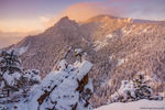 Boulder, Open Space and Mountain Parks,OSMP,Flatirons,Flagstaff Mountain,Colorado,Sunrise,Snow,Winter,March,Sunrise,Gregory Canyon,Crown Rock,Flagstaff Road,Green Mountain