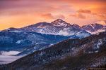 Longs Peak,Pagoda Peak,Cheifs Head Peak,The Spearhead,Many Parks Curve,Estes Park,Trail Ridge Road,Colorado,RMNP,Rocky Mountain National Park,14'er,Landscape,Photography,Sunrise,fog,February,The Diamo