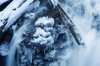 Adams Falls,Grand Lake,Rocky Mountain National Park,Colorado,ice,winter,snow