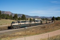 BNSF 9625 south at Husted, CO