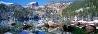 Rocky Mountain National Park, Bear Lake, Hallet Peak, Longs Peak, Estes Park, Trail Ridge Road, Pano