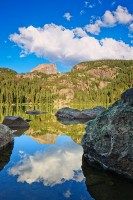 Bear Lake,Rocky Mountain National Park,Colorado,Hallet Peak,Nymph,Dream Lake,trailhead,sunrise,hikers,hike