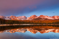 Rocky Mountain National Park, Colorado, Bierstadt Lake, Albert Bierstadt, Sunrise, American West, Hallett Peak,Flattop Mountain,Otis Peak,Notchtop Mountain,Estes Park,RMNP,Bear Lake Road,Trailhead,Ref