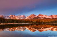 Rocky Mountain National Park, Colorado, Bierstadt Lake, Albert Bierstadt, Sunrise, American West, Hallett Peak,Flattop Mountain,Otis Peak,Notchtop Mountain,Estes Park,RMNP,Bear Lake Road,Trailhead,Ref