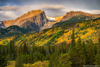 Hallett Peak,Bierstadt Moraine,Flattop Mountain,Autumn,Fall,RMNP,Rocky Mountain National Park,Colorado,Bear Lake Road,Estes Park,Sunrise,September