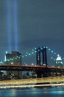 New York City, East River, Manhattan, World Trade Center, Tribute