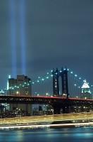 New York City, East River, Manhattan, World Trade Center, Tribute