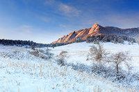 Boulder,Colorado,Open Space,Flatirons,Chautauqua Park,Meadow,winter,snow,trees