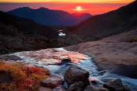 Columbine Falls,Longs Peak,Rocky Mountain National Park,Twin Sisters,Sunrise,tundra,stream,fall,chasm lake