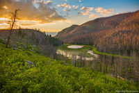 Cub Lake,Sunrise,Fern Lake Fire,Moraine Park,Hiking,Landscapes,Photography,July,Estes Park,Colorado,RMNP,Rocky Mountain National Park,Fire,Trees