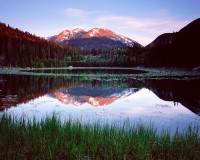 Rocky Mountain National Park, Colorado, Cub Lake, Stones Peak, Spring