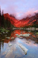 Rocky Mountain National Park, Colorado, Dream Lake, Hallet Peak, Sunrise