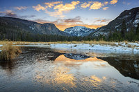 Grand Lake,East Inlet,Colorado River,Mount Baldy,Rocky Mountain National Park,Colorado,West side
