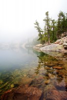 Rocky Mountain National Park, Emerald Lake, Colorado, Fog, Flattop Mountain