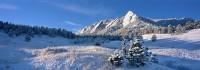 Flatirons, Boulder, Open Space, Chautauqua Park, Mountain, Meadow, Winter, Snow