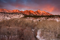 December,The Flatirons,Eldorado Springs,Colorado,Boulder,Open Space and Mountain Parks,Sunrise,OSMP,Sunrise,South Boulder Creek,Snow,Landscape,Photography
