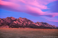 Flatirons Vista,Flatirons,Boulder,Colorado,Landscape,Photography,Sunrise,February,Winter,lenticular clouds,wave cloud