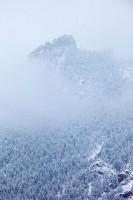 Boulder, Colorado, Flatirons, Chautauqua Park, Snow, Fog, Flagstaff Mountain