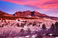 Boulder, Colorado, Flatirons, Sunrise, Clouds, OSMP, Open Space and Mountain Parks