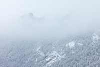Boulder, Colorado, Flatirons, OSMP, Open Space and Mountain Parks, Flagstaff Mountain, Snow, Fog
