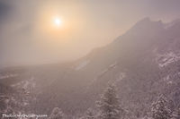 Chautauqua Park,Meadow,Flagstaff Mountain,Flagstaff Road,Gregory Canyon,The Flatirons,Boulder,Snow,Colorado,Ice,Fog,Sun,Landscape,Photography,OSMP,Open Space and Mountain Parks,December,Pines