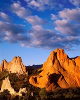 Garden of the Gods, Sunrise, Colorado Springs, Mountains, Clouds