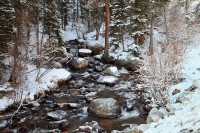 Rocky Mountain National Park, Colorado, Glacier Creek, Snow, Front Range