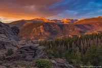 Longs Peak,Hallet Peak,Taylor Pea,Chiefs Head Peak,Sunrise,July,Upper Beaver Meadows,Estes Park,RMNP,Colorado,Rocky Mountain National Park,Landscape,Photography,steep mountain,overlook