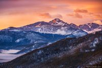 Longs Peak,Pagoda Peak,Cheifs Head Peak,The Spearhead,Many Parks Curve,Estes Park,Trail Ridge Road,Colorado,RMNP,Rocky Mountain National Park,14'er,Landscape,Photography,Sunrise,fog,February,The Diamo