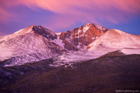 Longs Peak,Mount Meeker,Twin Sisters,Tahosa Valley,RMNP,Colorado,Sunrise,February,Winter,14er,Rocky Mountain National Park,Landscape,Photography,Estes Park,Highway 7,Sunrise,The Diamond