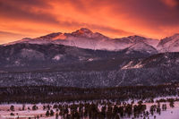 January,RMNP,Estes Park,Longs Peak,Sunrise,Landscape,Photography,Colorado,Rocky Mountain National Park,Sun,lenticular,clouds,orange,red,breathtaking,Upper Beaver Meadows,Trail Ridge Road,Winter,landsc