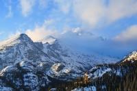 Longs Peak,Rocky Mountai National Park,Glacier Gorge,snow,spring,Colorado
