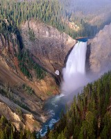 Yellowstone National Park, Lower Falls, River, Grand Canyon, Canyon Village, West, Cody