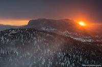 Deer Mountain, Trail Ridge Road,Estes Park.RMNP,Rocky Mountain National Park,Colorado,February,Sunrise,Winter,Sun,Landscape,Photography,snow,Many Parks Curve