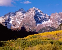 Maroon Bells, Aspen, Fall Color, White River, National Forest, Large Format