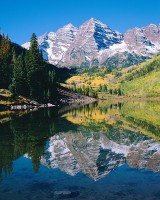 Maroon Bells, Maroon Lake, Aspen, Fall Color, White River National Forrest