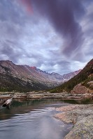 Mills Lake,Rocky Mountain National Park,Colorado,Longs Peak,Sunrise,storms