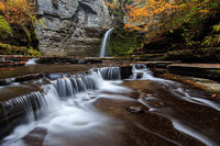 Eagle Cliff Falls,New York,Havana Glen,Montour Falls,waterfall,autumn