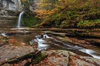 Eagle Cliff Falls,Montour Falls,New York,Streams,Autumn,fall