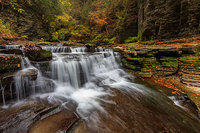 Eagle Cliff Falls,Montour Falls,Havana Glen,New York,Waterfalls,Autumn,finger lakes