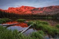 Ouzel Lake,Wild Basin,Mahana Peak,Sunrise,Reflection,Estes Park,RMNP,Rocky Mountain National Park,Colorado,landscape,photography,September,backcountry