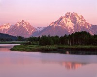 Wyoming, Grand Teton National Park, Oxbow Bend, Snake River, Mt. Moran
