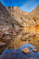 Peacock Pool,The Diamond,Longs Peak,14,259ft,Reflection,Longs Peak Trailhead,Chasm Lake,RMNP,Colorado,Fourteener,Rocky Mountain National Park,Colorado,Landscape,Photography,September,Sunrise